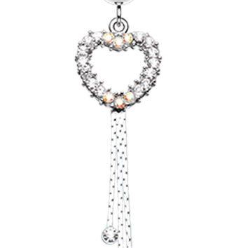Classy Heart Cascading Belly Button Ring