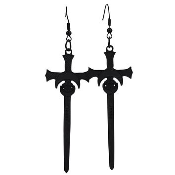 Restyle Moon Swords Earrings Distressed Gothic Witchy Occult Alchemy Earrings