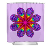 Satin Fractal Flower 3 Shower Curtain for Sale by Ruth Moratz