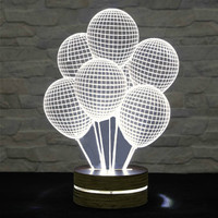 Home Decor, Office Decor, Balloons Shape, 3D LED Lamp, Acrylic Lamp, Amazing Effect, Art of Light, Nursery Light, Artistic Lamp, Table Light