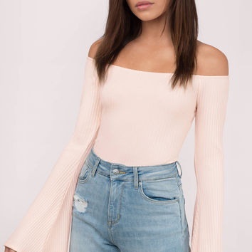 Estelle Off Shoulder Bell Sleeve Bodysuit