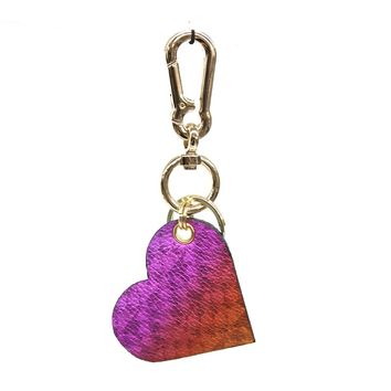 B-Low the Belt Rainbow Heart Keychain