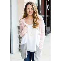 Locked On It Cardi - Blush