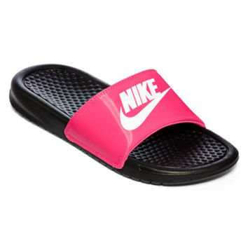 jcpenney | Nike® Benassi Girls Slide Sandals - Little Kids/Big Kids