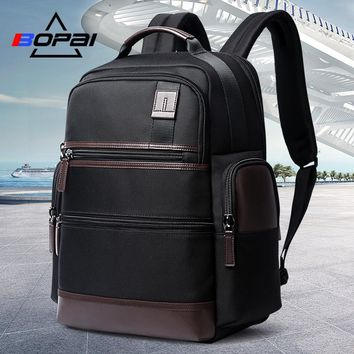 BOPAI 14-15.6 Inch Oxford Laptop Backpack Men Women Weekend Travel Backpacks USB Charging Black School Computer Notebook Bags