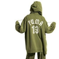 """Fenty X Puma Rihanna"" Women Casual Letter Numeral Embroidery Zip Cardigan Oversize Ho"