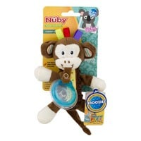 Snoozie Plush Pacifinder with Small Natural Flex Cherry Pacifier for 0-6+ Months, Hedgehog - Walmart.com