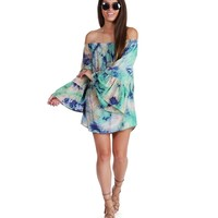 Promo- Mint Wildflower Tie-dye Tunic