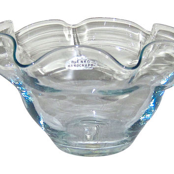 Midcentury Blenko Art Glass Bowl