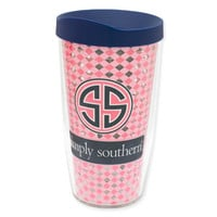 16oz Simply Southern Gingham Tervis Tumbler