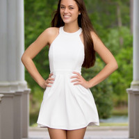 Clean And Pretty Bow Back Dress - White