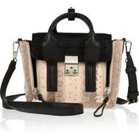 3.1 Phillip Lim | Mini Pashli leather and elaphe shoulder bag | NET-A-PORTER.COM
