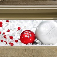 Christmas Garage Door Cover Banners 3d Holiday Outside Decorations Outdoor Decor for Garage Door G46