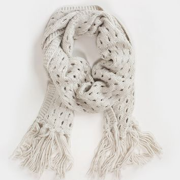 Blaire Ivory Knit Scarf
