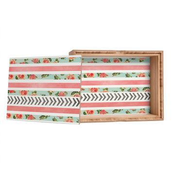 Allyson Johnson Floral Stripes And Arrows Jewelry Box