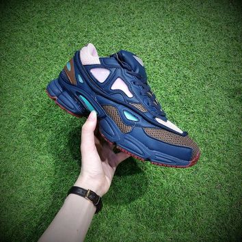 Raf Simons x Adidas Consortium Ozweego 2 Night Marine 2018 Women Men Casual Trending Running Sports Shoes Sneakers