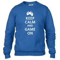 keep calm and game on Crewneck sweatshirt