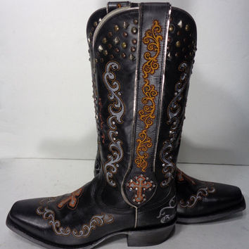 Ariat 10012844 Gilded Gypsy Old West Black Western Boot Women's Size 9