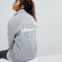 Ellesse Funnel Neck Zip Top With Back Logo at asos.com