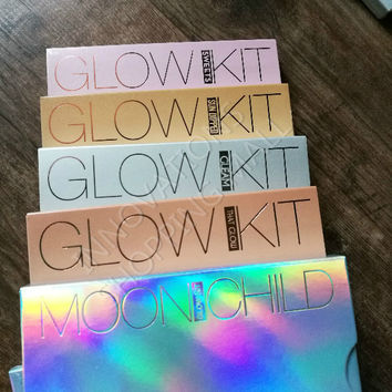 EPACKET FREESHIPPING GLOW KIT MOON CHILD SWEET SUN DIPPED GLEAM THAT GLOW Palette Powder contour kit Makeup Bronzer&Highlighter