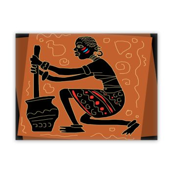 African Fine Wall Art Canvas - Churn Power