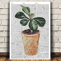 Flower poster House plant print Watercolor print Plant decor RTA1579