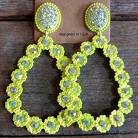 Loretta Earrings - Neon Yellow