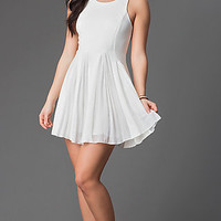 Short Ivory Graduation Dress