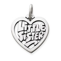 """Little Sister"" Heart Charm 