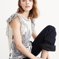 Womens Embroidered Ruffle Blouse | Womens New Arrivals | Abercrombie.com