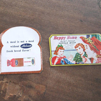 Cool '50s Advertising Holsum Bread Needle Book + Happy Home/Atomic Housewives Sewing Needle Folder; U.S. Shipping Included