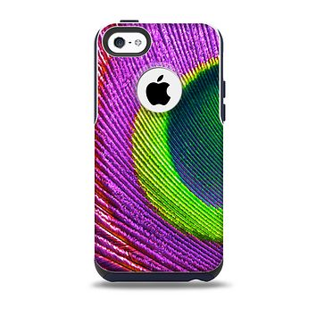 The Neon Peacock Feather Skin for the iPhone 5c OtterBox Commuter Case