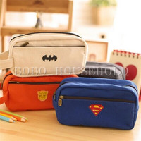 Canvas Hero Classic Pencil Case Makeup Cosmetic Bag Pouch Zipper Stationery = 1927929348