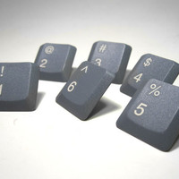 Push Pins Computer Keyboard Numbers Upcycled by clonehardware
