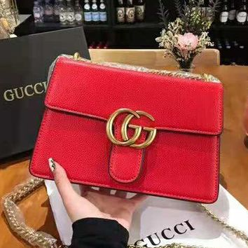 GUCCI 2018 new trend Bacchus bag chain bag shoulder bag Messenger bag
