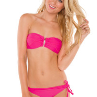 Amanda Bathing Top - Hot Pink