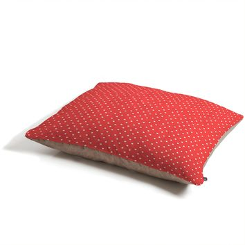 Allyson Johnson Red Dots Pet Bed
