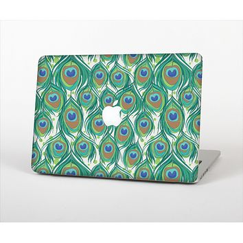 The Peacock Green Feather Bundle Skin Set for the Apple MacBook Air 13""