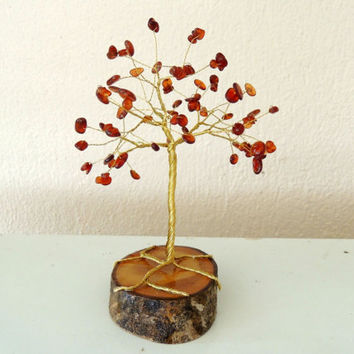 Garnet Gemstone wire tree,wire tree of life,wire tree sculpture