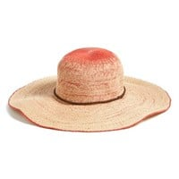 Junior Women's Billabong 'Salty Shorez' Ombre Straw Floppy Hat