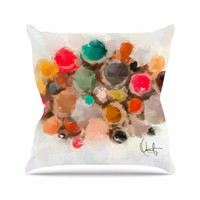 "Oriana Cordero ""La Maddalena"" Multicolor Abstract Throw Pillow"