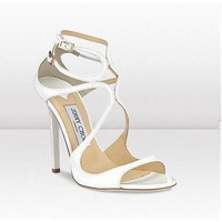 Jimmy Choo Women Fashion Fish Mouth Heels Shoes Sandals-1