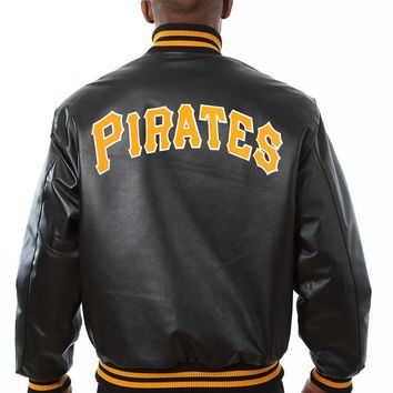 Pittsburgh Pirates mens all leather jacket