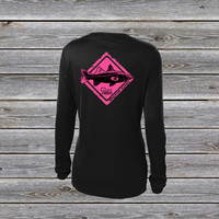 Snook Crossing Pink UPF Long Sleeve Shirt