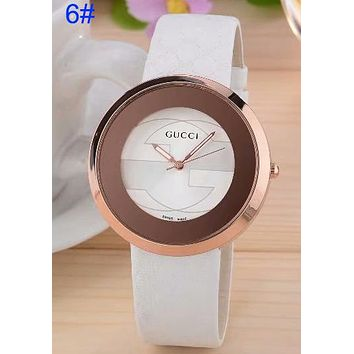 Gucci Women Men Full Color More Watchband print Fashion Watch B-CTZL White