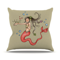 "Carina Povarchik ""Mermaids Lovely"" Outdoor Throw Pillow"