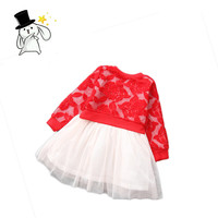 2016 Girls Clothing  O neck Cotton Polyster Full Sleeve Character Lace Clothing Set Girls Boutique Kids  Sets Free Shipping4020