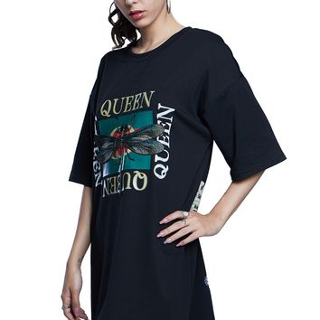 Dragonfly Queen Graphic Boxy Mini Dress