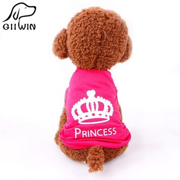 princess t-shirt clothes for dogs pet hunting dog vests dog vest dogs pets clothing pet clothes PY1038