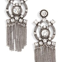 Sole Society Crystal Fringe Statement Earrings | Nordstrom